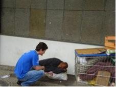 Actividad de ayuda humanitaria en Belo Horizonte