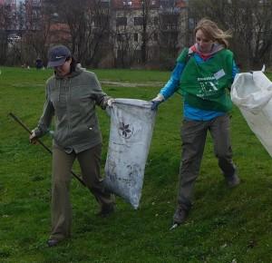 Limpieza los alrededores del río Radbuza