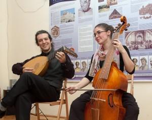 Baroque music played on lute and viola da gamba