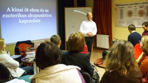 Chinese elements and acupuncture talk in Budapest