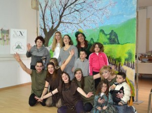 Theatrical performance at an orphanage for girls in Poros