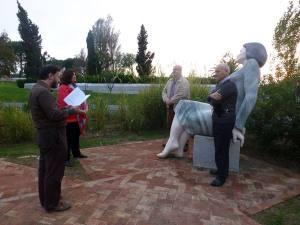 Homenaje a la poetisa lusa, Florbela Espanca, en el Parque de los Poetas