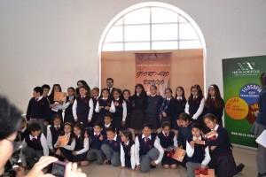 """Jóvenes poetas en la Serena, Chile, participando en el Concurso """"Giordano Bruno"""""""