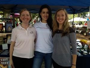 Melanie, Stephanie and Christine at Oakhurst Fall Festival, 2014