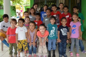 Niños que participaron en el taller
