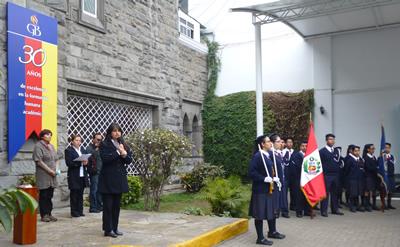 Palabras directora colegio Giordano Bruno - Perú