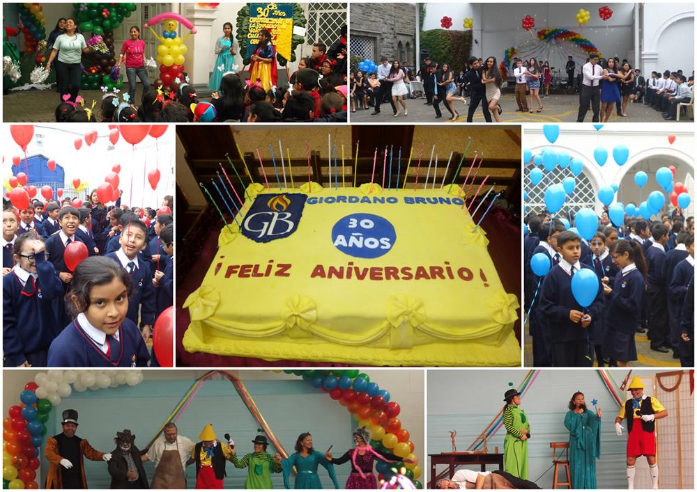 Celebración 30 años - Colegio Giordano Bruno Perú