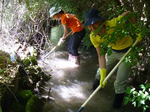 Munich river cleaning