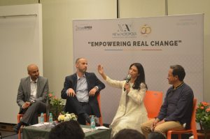 """Empowering real change"" a debate in collaboration with the Indian Express newspaper (Mumbai, India)"