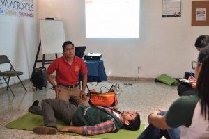 Taller de primeros auxilios para voluntarios (Tegucigalpa, Honduras)