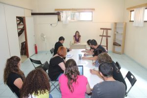Clase teórico-práctica de jardinería (Nicosia, Chipre)