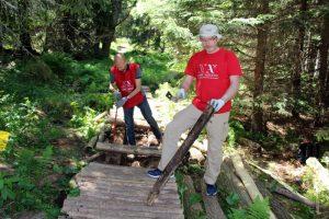 The first wooden walkways on Vitosha mountain, at last! (Sofia, Bulgaria)