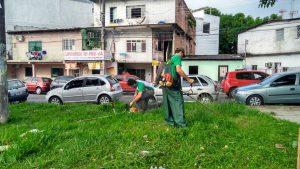 Voluntarios de Nueva Acrópolis Manaus revitalizan la plaza de la ciudad (Manaus, Brasil)