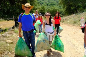 """""""Ecological visit"""" to collect waste (Haifa, Israel)"""
