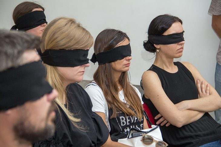 Art-Performance with Closed Eyes «Moving among Lifeless» (Kiev, Ukraine)