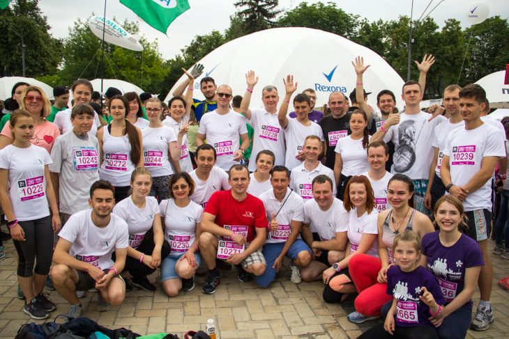 50 acropolitans participated in Charitable Running Event (Kiev, Ukraine)