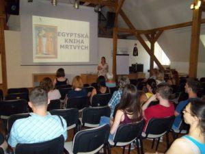 Conferencia sobre el antiguo libro egipcio de los muertos (Usti nad Labem, República Checa)