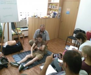 First aid or getting ready to be of help (Zelenograd, Russia)