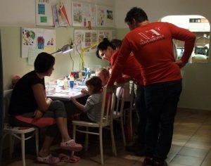 Creative evening at a community center (Bratislava, Slovakia)