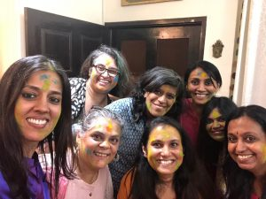 Celebrating the Spring equinox and the festival of Holi! (Bangalore, India)