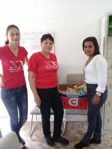 """Entrega de donaciones al Hogar infantil """"Fe Viva"""" (San José, Costa Rica)"""