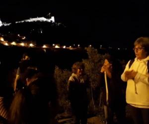 Caminata nocturna por la Sierra de Palmela (Lisboa, Portugal)