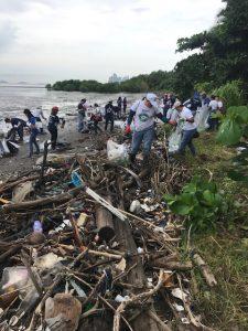 Jornada de limpieza en las playas (Panamá)