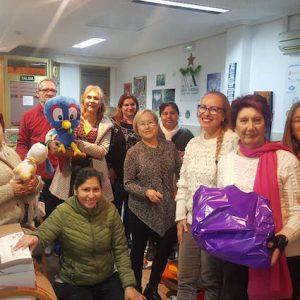 Campaña de recogida de juguetes Navidad 2019. Entrega a los niños de los regalos (Valencia, España)