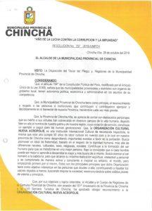 Reconocimiento en Chincha