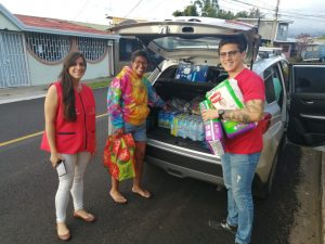 Basoc goods collection day for those affected by a fire (Costa Rica)