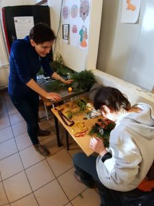 Making Christmas Tree Decorations at the Homeless Shelter (Budapest, Hungary)