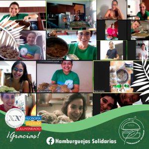 Voluntarios participando del #HamburguejasChallenge (Santa Cruz, Bolivia)